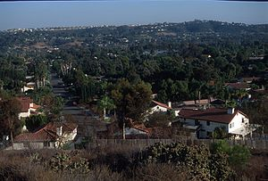 Bonita, California - View south across Bonita