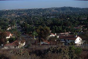 Bonita, California - View south across Bonita