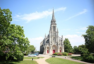 Basilique Notre-Dame de Bonsecours basilica located in Seine-Maritime, in France