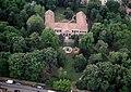 Bonyhád, Perczel mansion, now library, aerial - Garden.jpg
