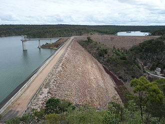 Boondooma Dam - Image: Boondooma From Lookout 1