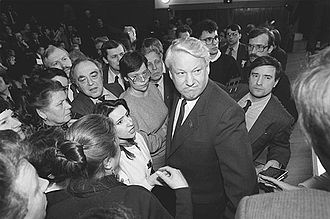 Congress of People's Deputies of the Soviet Union - Boris Yeltsin during his electoral campaign on 1 February 1989