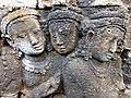 Borobudur - Divyavadana - 069 W, King Bimbisara receives King Rudrayana's Cuirass (detail 3) (11706666964).jpg
