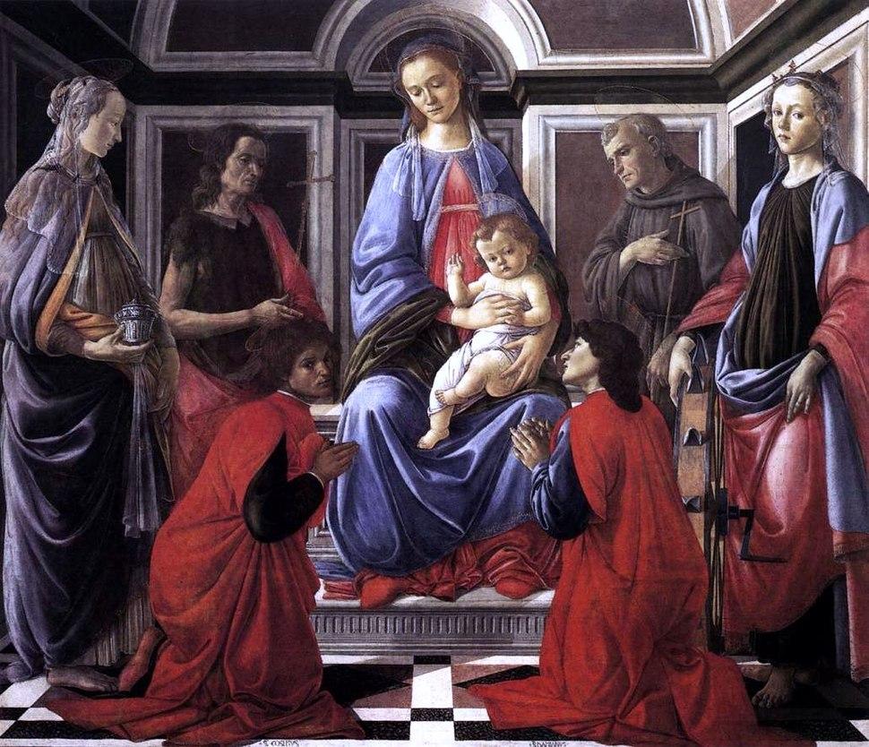 Botticelli, pala di sant'ambrogio