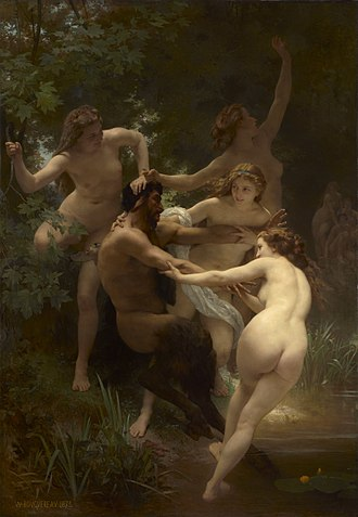 William-Adolphe Bouguereau - Nymphs and Satyr, 1873, oil on canvas, 260 × 180 cm (102.4 × 70.9 in), Clark Art Institute