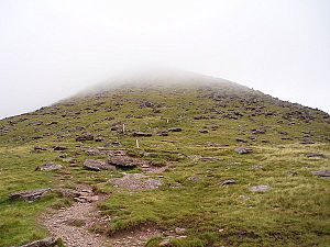 Mount Brandon - Image: Boulder fields and clouds geograph.org.uk 219291