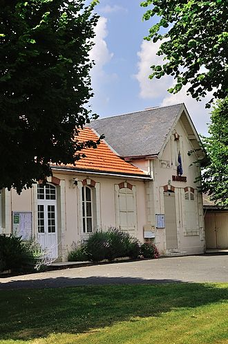 Bretagne, Indre - The town hall in Bretagne
