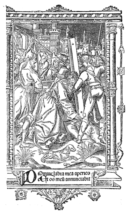 THE PASSION OF OUR LORD (After a painting by Martin Schongauer. From a Missal by Simon Vostre)