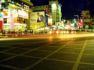 Brigade Road - Brigade Road, Bangalore, in the evening