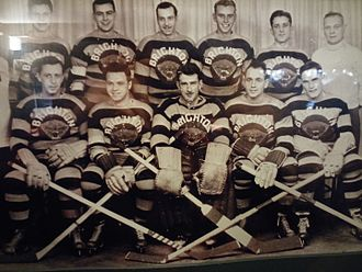 Brighton Tigers - A shot of the Brighton Tigers Ice Hockey Team taken in the late 1930s.