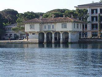 Brijuni - The main port on Brijuni, showing the 1902 boathouse.