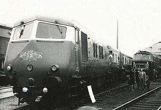 British Rail Classes 251 and 261 - A Blue Pullman at the Open Day at Bristol Bath Road depot in October 1965.