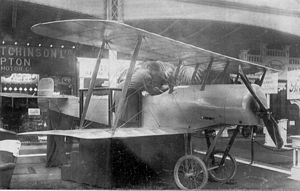 Bristol Scout - Bristol Scout prototype at the 1914 Olympia Aero Show