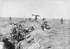 British infantry advance near Gingy.