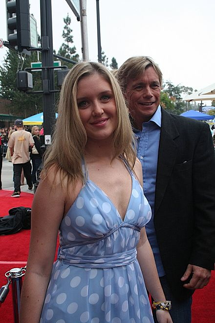 Atkins and Brittney Bomann on the red carpet at the 62nd Annual Mother Goose Parade in San Diego County, 2008. - Christopher Atkins