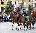 Brno, náměstí Svobody - mezinárodní policejní mistrovství ČR v jízdě na koni - příjezd a defilé soutěžních ekvip obr12.jpg