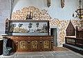 Bro kyrka, Gotland. Medeltida korbänk (bakstycket)..jpg