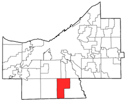 Location of Broadview Heights in Cuyahoga County