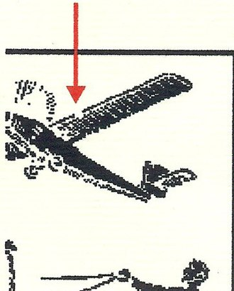 Airmail stamps of Denmark - Image: Broken Right Wing 10ore