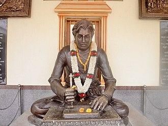 Kanaka Dasa - Image: Bronze statue of Kanaka Dasa, Bada, Bankapur