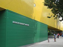 Exterior view of one side of the Brooklyn Children's Museum
