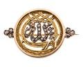 Brosch av guld och rosenstenar - Hallwylska museet - 110041.tif