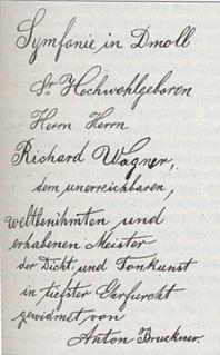 Symphony No. 3 (Bruckner) symphony by Anton Bruckner