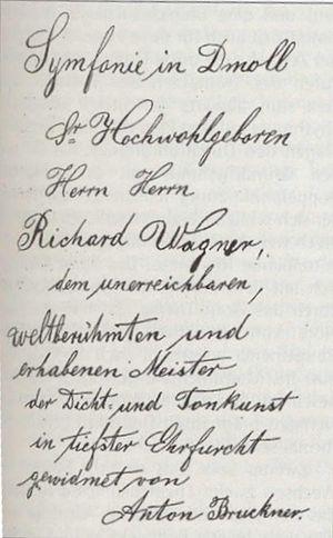 Symphony No. 3 (Bruckner) - Dedication to Wagner
