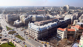 University Square, Bucharest - View from the Intercontinental Hotel