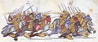 The Bulgarians annihilate the Byzantines in the battle of Anchialus