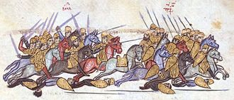 Simeon I of Bulgaria - The Bulgarian victory at Anchialos, Madrid Skylitzes.