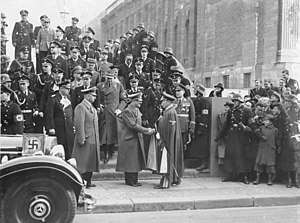 SS-Begleitkommando des Führers - Führerbegleitkommando and other uniformed SS men providing security for Hitler in February 1939