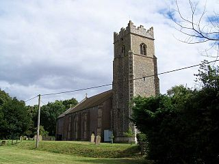 Bunwell village in the United Kingdom