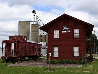 Walker, Iowa - Image: Burlington, Cedar Rapids, and Minnesota Railroad Walker Station, Walker, IA