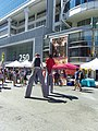 Buskers on stilts, Buskerfest, 2014 08 24 -a (15004401226).jpg