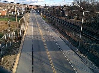 Homewood station (PAAC) - Image: Busway (31575854986)