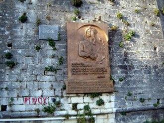 Lord Byron - Byron's Stone in Tepelene, Albania