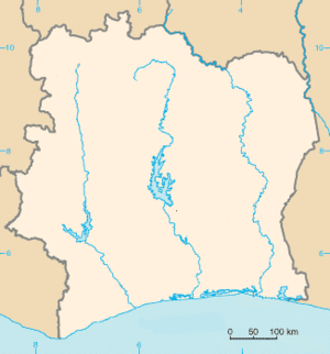 Abidjan is located in Côte d'Ivoire