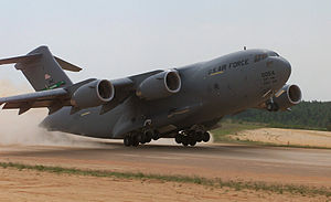 English: A C-17 Globemaster, 446th Airlift Win...