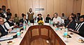 C.P. Joshi witnessing the signing ceremony of the State Support Agreement (SSA) between the Ministry of Road Transport & Highways and the State Governments of Bihar, Kerala and Jammu & Kashmir, in New Delhi.jpg
