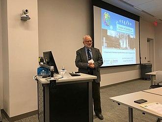 Jean-Paul Gonzalez - Jean Paul Gonzalez presenting the Center of Excellence of Emerging Zoonotic and Animal Disease (Kansas State University, Manhattan, KS) at University of Kansas School of Medicine, Lawrence, KS.