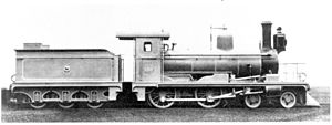 CGR 3rd Class 4-4-0 1883 - Image: CGR 3rd Class 4 4 0 1883 no. M80