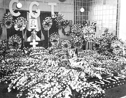 Almost three million people attended Eva Perón's funeral in the streets of Buenos Aires. - State funeral