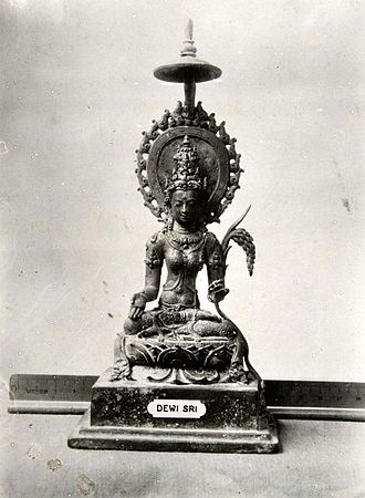Agriculture in Indonesia - Ancient statue of the rice goddess Dewi Sri.