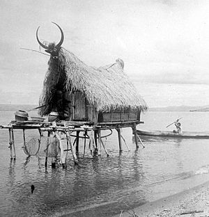 Balige - A fisherman's house in Balige, first half of 20th century