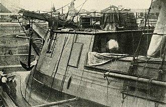 Japanese ironclad Kōtetsu - Closeup