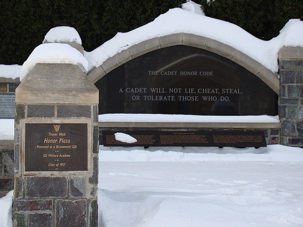 Cadet Honor Plaze USMA Dec 2008