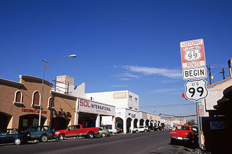 U.S. Route 99 - Historic southern terminus of US 99 in Calexico, CA