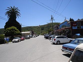 Pescadero, California - Downtown Pescadero on Stage Road, looking south, May 2008