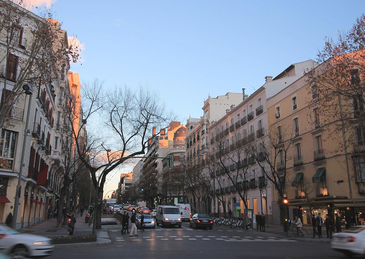 Calle de ortega y gasset wikipedia la enciclopedia libre - Calle castello madrid ...